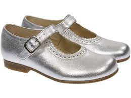 mary jane silver leather