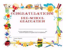 free preschool certificates preschool graduation certificate template free graduation