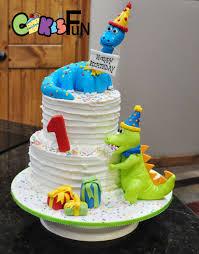 Dinosaur First Birthday Cake Cake By Cakes For Fun Cakesdecor