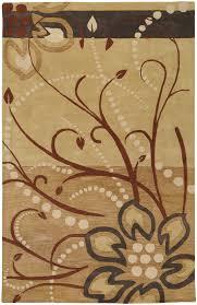 6x9 oval surya handmade wool beige leaf vine 5006 rug approx 6 x 9