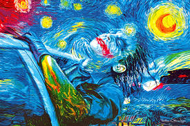 starry knight classical paintings batman pop art vartan