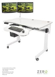 work table office. the zero gravity table shown with dual straight cross bar front 110 power usb work office