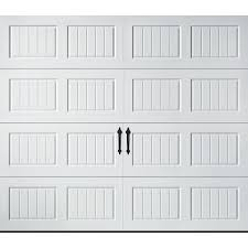 Shop Pella Carriage House 108 In X 84 Insulated White Single 10 7 ...