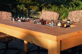 diy wood patio furniture. DIY Patio Table With Built-in Beer/Wine Coolers Diy Wood Furniture