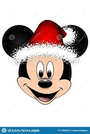 Disney Vector Illustration Of Mickey Mouse With Red ... in 2020 | Mickey  and friends, Disney, Friend christmas