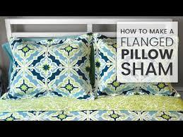 how to make a d pillow sham