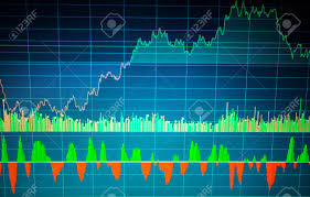 Free Stock Market Charts And Graphs Stock Market Chart Graph On Blue Background Stock Market Graph