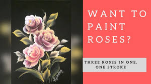 how to paint roses with acrylic simple and easy tutorial series