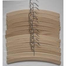 18 childrens 30 cm beech wood hangers
