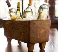 blonde wood wine trough pottery barn blonde wood office