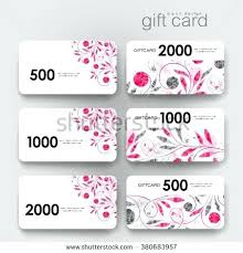 Coupon Template Gorgeous Coupon Card Template Gift Discount With Floral Ornament Background