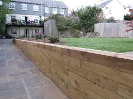 softwood sleeper retaining wall