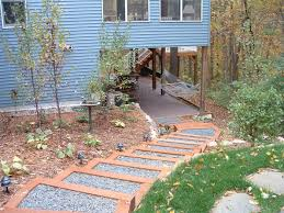 Small Picture Exterior Steps Ideas Cool Curved Steps With Brick Pillar L