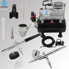 ophir 2 airbrush kits with air tank pressor for model hobby makeup system machine cake airbrush