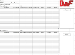 Workout Tracking Template Daniel Whitehand