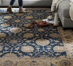 madeline persian rug blue multi pottery barn