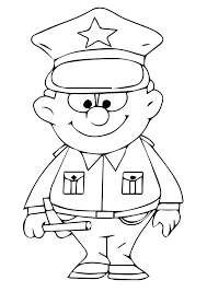 Printable Police Coloring Pages For Kids Coloringstar
