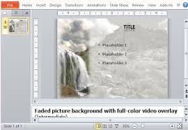 powerpoint template amazing waterfall video background