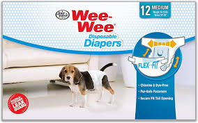 Wee Wee Diapers Size Chart Wee Wee Disposable Doggie Diapers Medium 12 Count