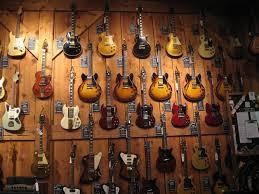 hanging guitars on walls