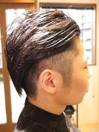 82パートが流行る清潔感たっぷりの刈り上げmixヘアスタイル