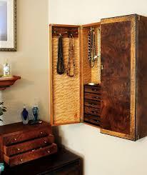 Custom Made Wall Mounted Jewelry Cabinet Wall Mounted Jewelry Cabinet T73