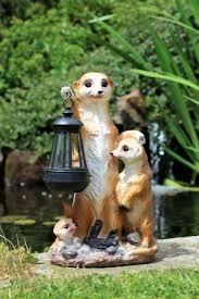 garden ornament meerkat solar powered