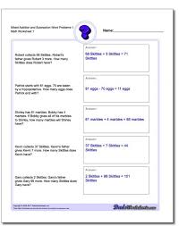 2 nd grade addition and subtraction word problems worksheets fresh ...