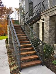 finelli architectural iron and stairs custom handmade exterior wood and  iron staircase made in cleveland ohio