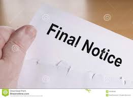 Final Notice Stock Photo. Image Of Concept, Debt, Dunning - 49786992