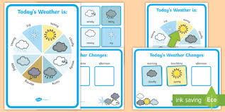 Todays Weather Display Chart And Daily Record Sheet