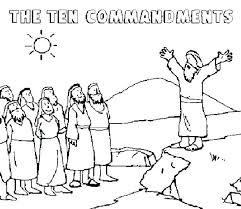 Ten Commandments Coloring Pages 10 Commandments Coloring Pages Ten