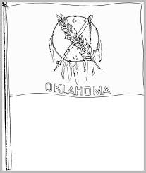 Oklahoma State Coloring Pages Awesome Best S Of Oklahoma Flag