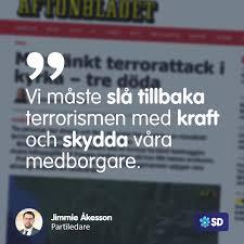 Jimmie Åkesson - Bara veckor efter den fasansfulla terrorattacken i  Frankrike då en lärare fick sin hals avskuren av en islamist i Paris efter  att ha visat karikatyrer på profeten Mohammed, tycks