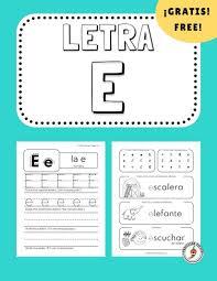 Practice the spanish alphabet with this fun printable bingo game. Free Spanish Letter E Worksheet Professor Pepper