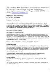 The Art Of The Personal Essay Writing The Personal Essay Beginning Course Ucla