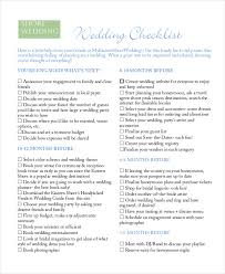 what you need for a wedding checklist 14 wedding checklist templates free pdf doc format download
