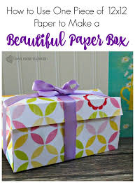 how to use one 12x12 paper to make a beautiful paper box down home inspiration
