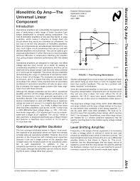 Design Aspects Of Monolithic Op Amps Monolithic Op Amp Lecture Notes 1 Shu Studocu