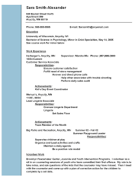Work Resume Example 88 Images Summary Sample Hospital Social