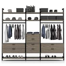 gravity config 8 walk in closet wall unit by huppe