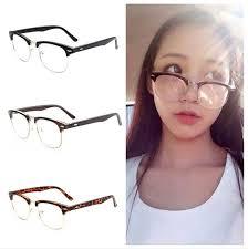 vine retro uni half frame clear lens gles nerd geek eyewear eyegles ebay