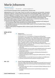 Registered Nurse Job Resume Examples Nursing Resume Example – Best ...