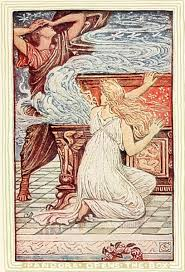 pandora s box by nathaniel hawthorne bedtime stories pandora opening the box illustration by walter crane for children s story by nathaniel hawthorne ldquo
