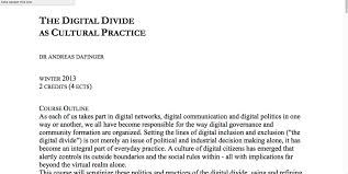 digital divides digital pedagogy in the humanities mla commons the digital divide as cultural practice screenshot