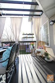 deck decorating ideas pergola diy curtain rods and ds made from drop cloths