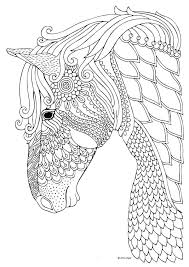 Printable Horse Colouring Pages Free Color Feat Christmas Coloring