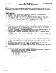 Qa Tester Resume Resume For Paralegal
