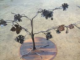 custom made copper steel brass forged grapevine sculpture on metal grape vine wall art with custom copper steel brass forged grapevine sculpture by napa