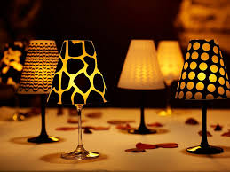view in gallery wine glass lampshades ideas wonderful diy wine glass candle lampshades
